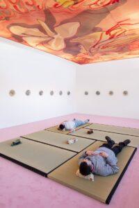 Installation view: Matthew Lutz-Kinoy. Window to the Clouds; Salon Berlin, Museum Frieder Burda