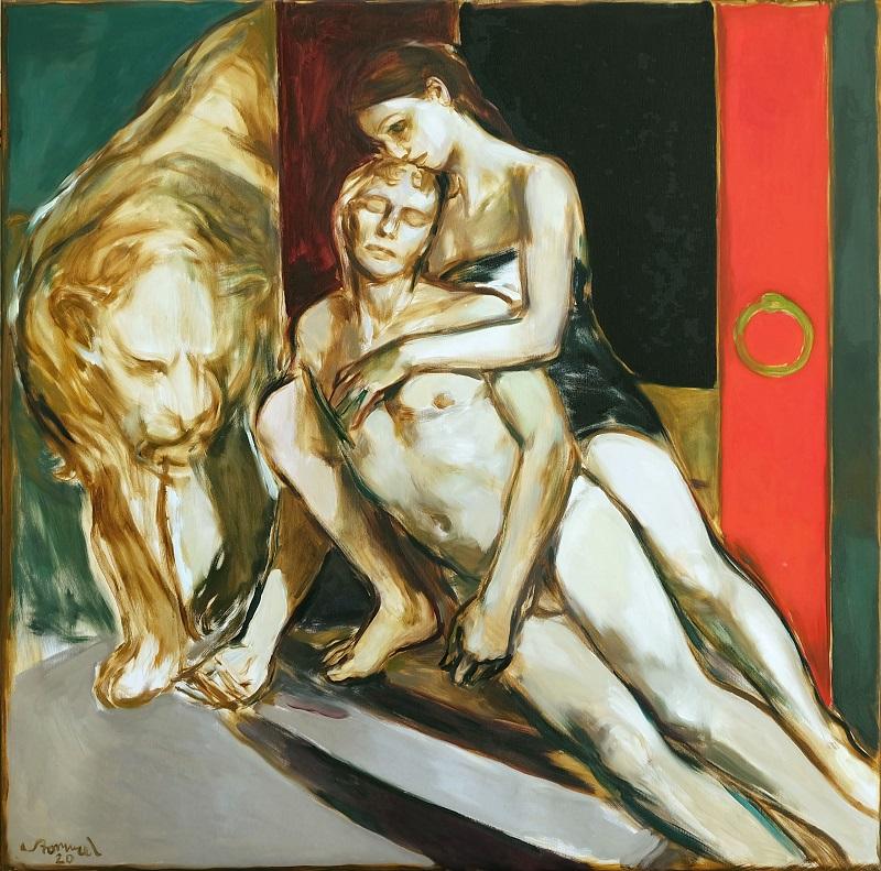 "MARTIN STOMMEL ""Adonis"", Öl auf Leinwand, 150 x 150 cm, 2020"