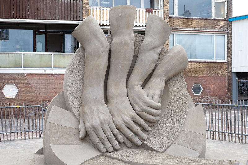 Gewinner 2019: Sandskulptur von Fergus Mulvany © Zandvoort Marketing