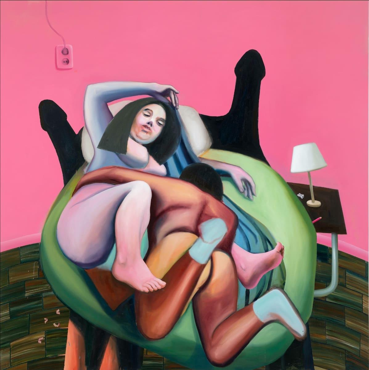 ERROR EXPLANATION: Ivana de Vivanco, Coming around, 2020, Öl auf Leinwand, 190 x 190 cm