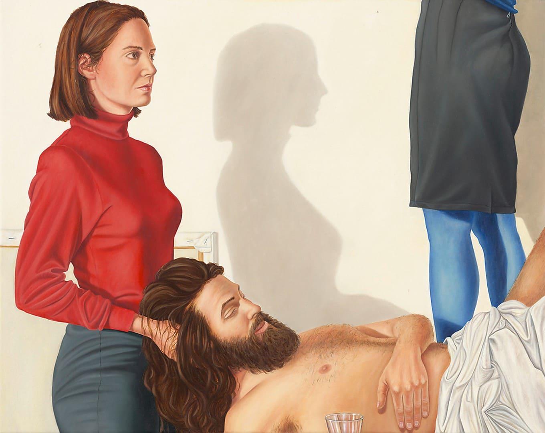 Sven Hoppler, Caritas, 2020, Acryl und Öl auf Leinwand, 40 x 50 cm