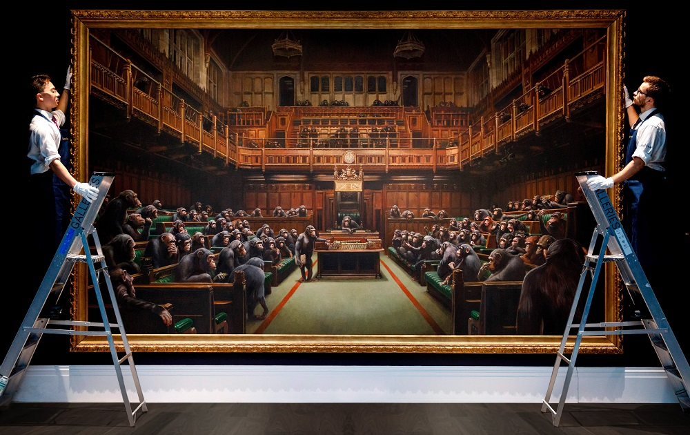 The Mystery of Banksy MUC20, Devolved Parliament (c) GettyImages
