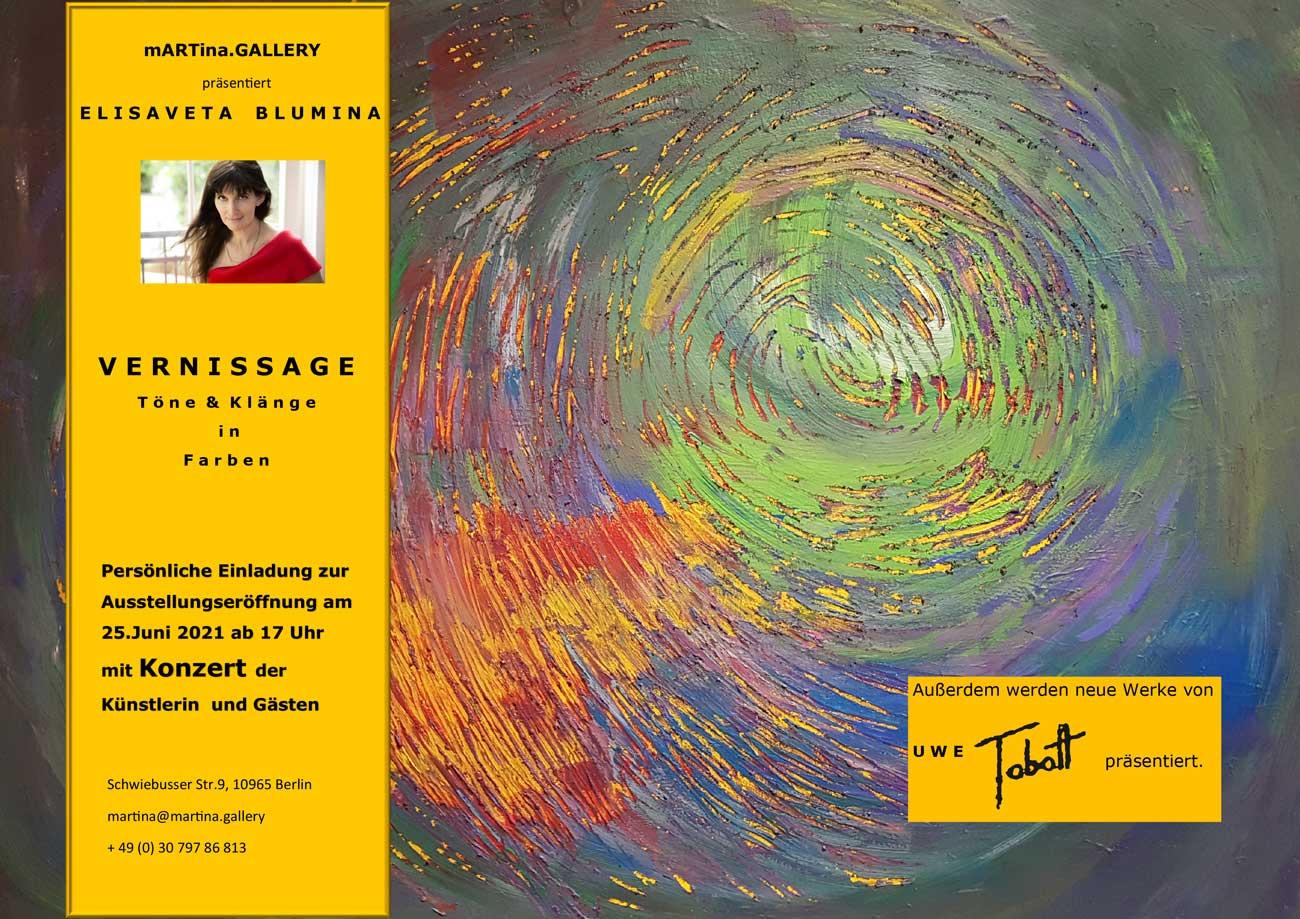Elisaveta Blumina und Uwe Tabatt bei mARTina.gallery
