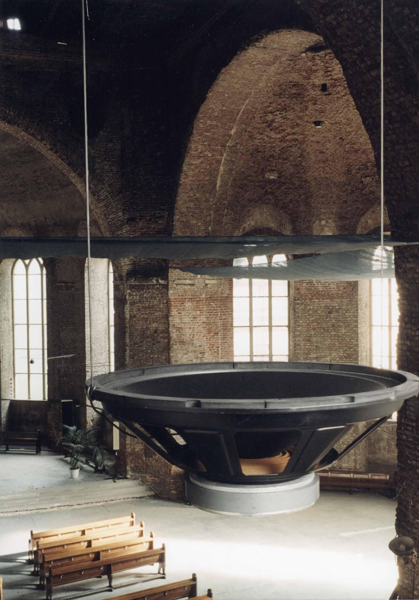 Rolf Julius: Musik, weiter entfernt – Klanginstallation (Detail), 1999, Fotograf: Roman März