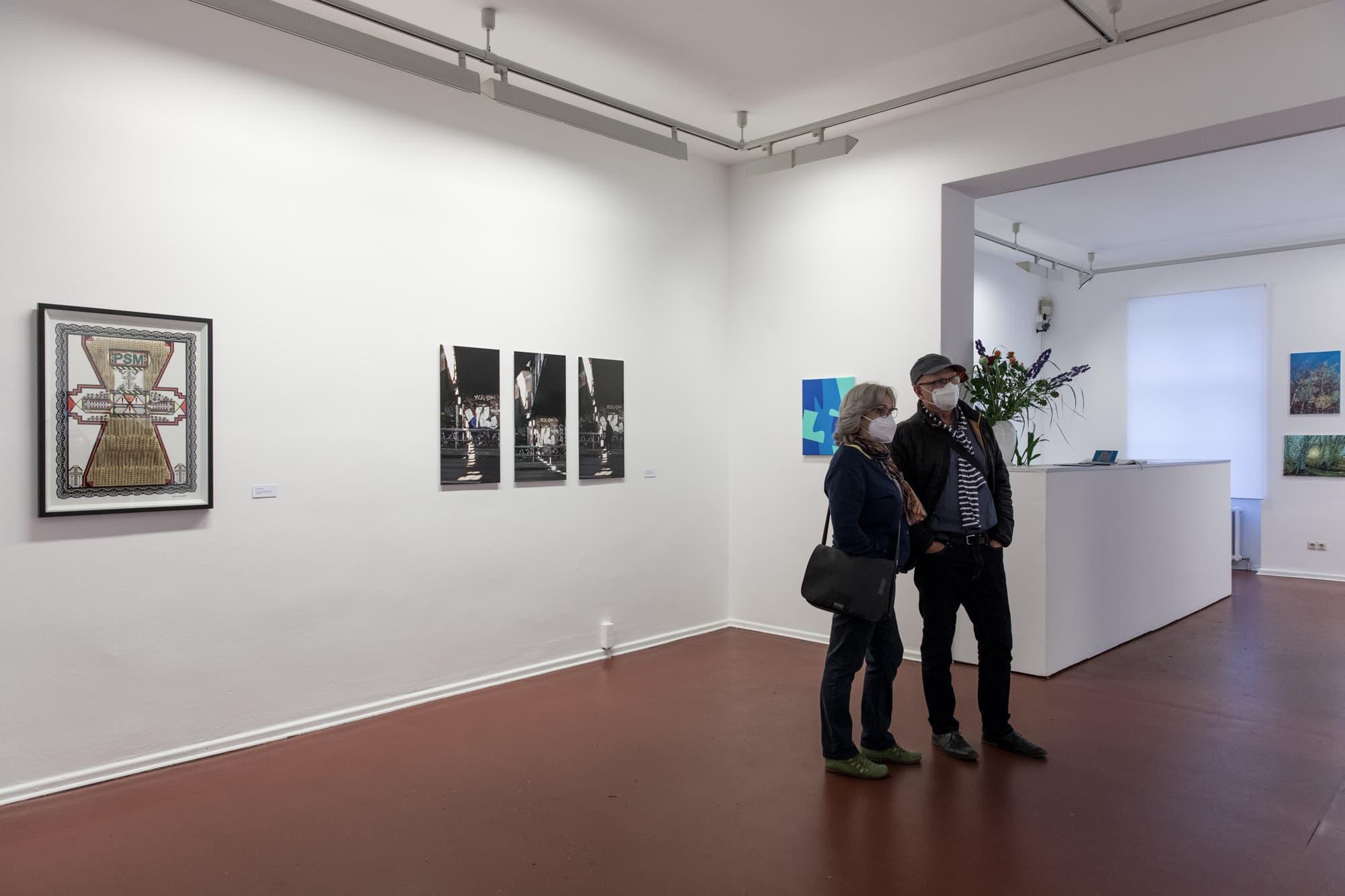 Vernissage: Zehnte Tempelhofer Kunstausstellung, Galerie im Tempelhof Museum, Juni 2021, Foto © Amélie Losier