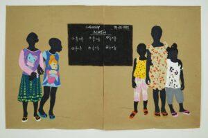 Raphael Adjetey Adjei Mayne Mummy Said I Should Take Care Of You 2020 Acrylic on canvas 190 × 150 cm 74 3/4 × 59 in