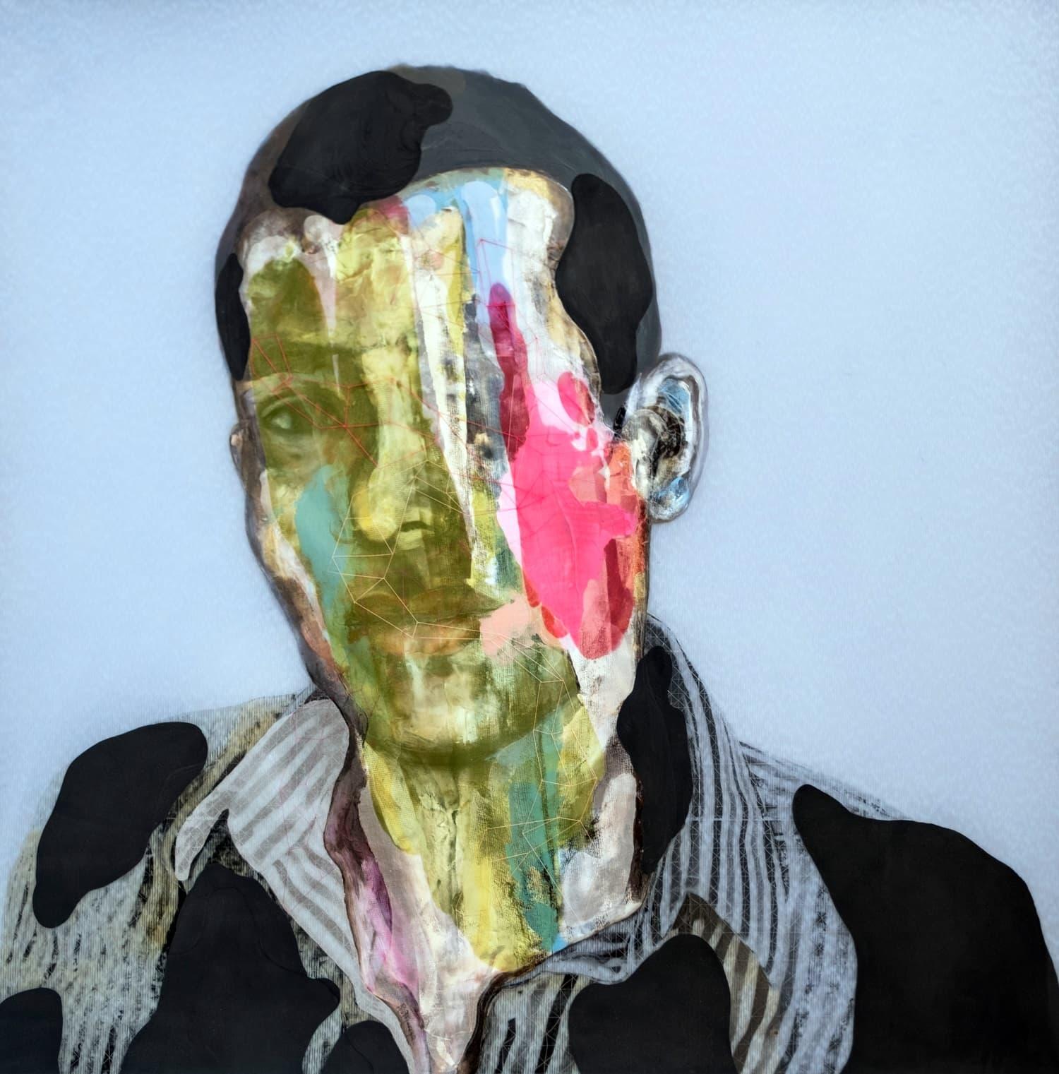 Rogelio Manzo Lucio, 102 x 102 cm Oil and mixed on resin panel, Oel und Mixed Media auf Epoxidharz Platte: 2020