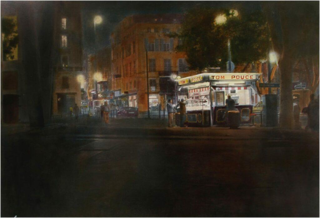 Tom Pouce (Marseille), 50 x 70 cm, s-w-Barytpapier, koloriert